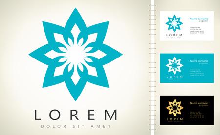 Abstract flower - vector logo Ilustracja
