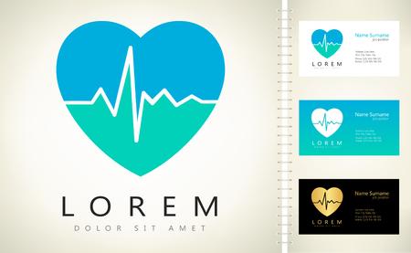 Heartbeat sign - vector logo