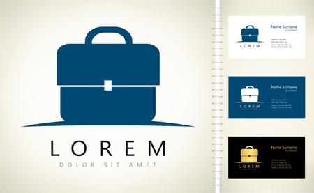 Brief bag. Business briefcase vector logo
