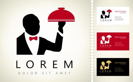 Waiter with a tray logo