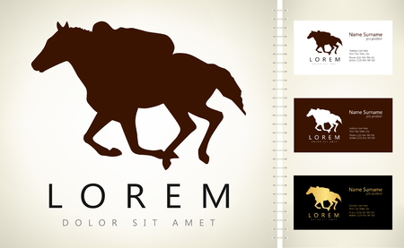 Horse logo. Vector illustration.