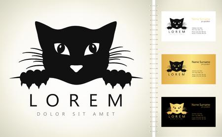 cat symbol - kitten logo vector