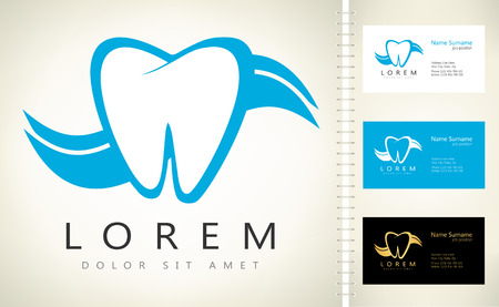 preening: tooth logo. vector illustration.