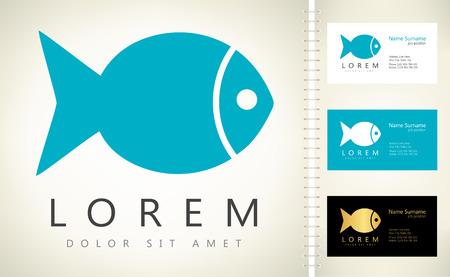 Fish logo vector Ilustracja
