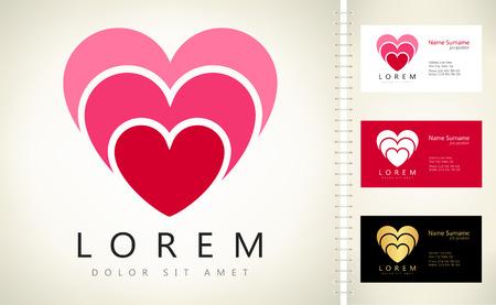 heart shape vector logo Ilustracja