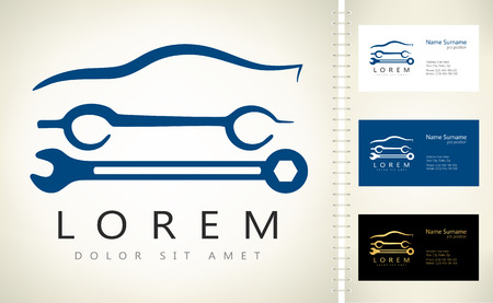 Auto repair logo. Vector illustration. Ilustracja
