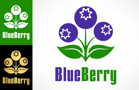 Blueberry logo Ilustracja