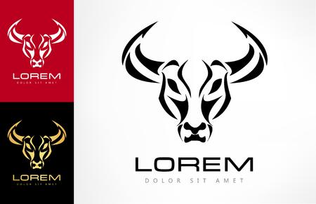 A bull logo illustration. Illustration