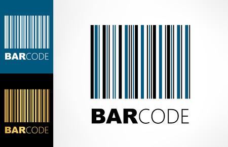 Bar code logo Ilustracja