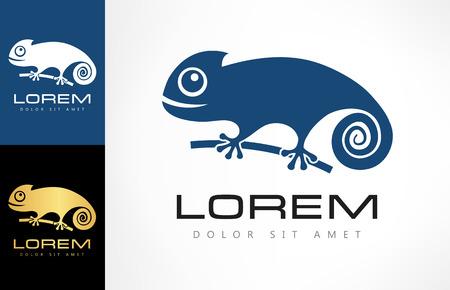 kameleon logo Stock Illustratie