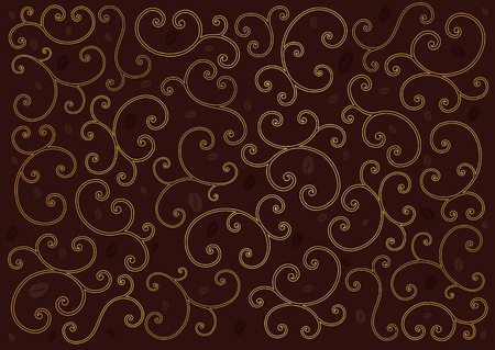 Coffee background with swirl line