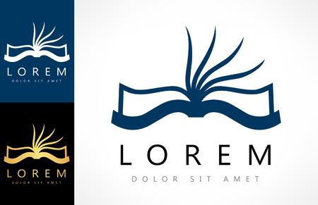 Book logo. Education icon.