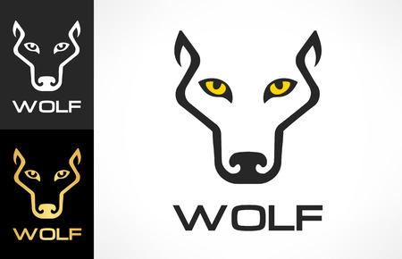 Wolf Head silhouette. Wolf logo vector