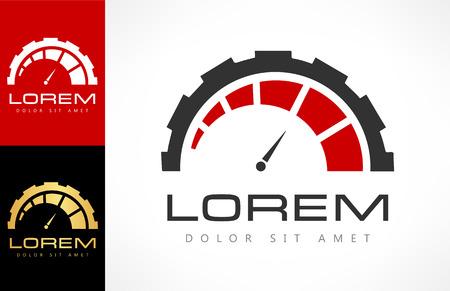 Snelheidsmeter logo. Snel pictogram. Logo
