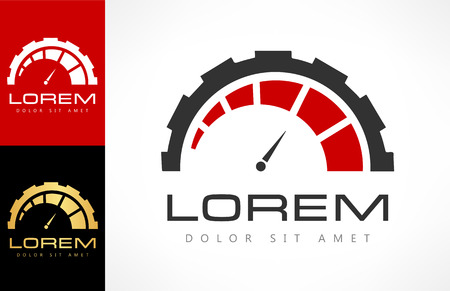 Speedometer logo. Speed icon.