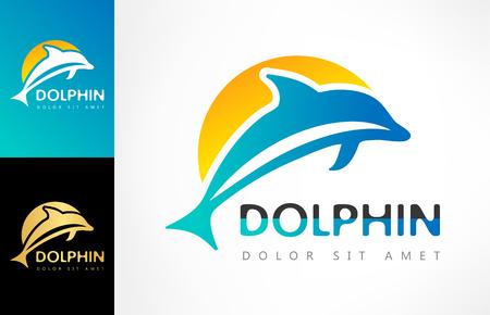 dolphin logo Ilustracja