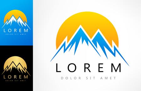 mountain logo Zdjęcie Seryjne - 81320328
