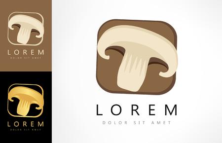 mushroom logo Ilustracja