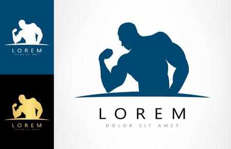 bodybuilder logo Ilustracja
