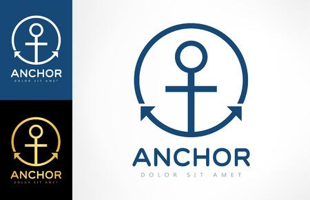 anchor logo Ilustracja