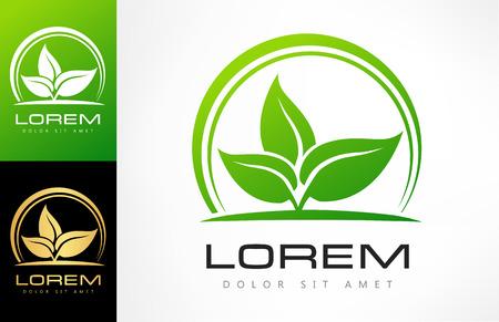 leaf logo Ilustracja