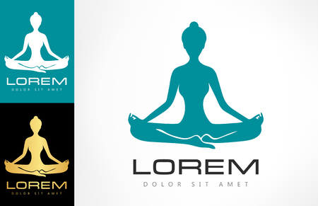 Yoga women logo Ilustracja