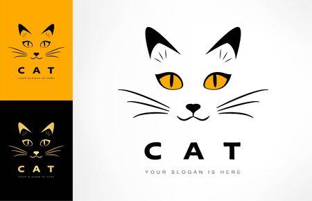 Cat logo vector animal design Zdjęcie Seryjne - 144241226