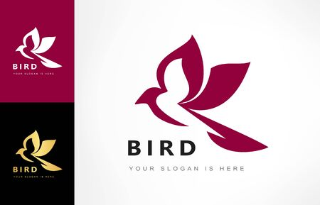 Bird logo vector. Animal illustration. Ilustracja