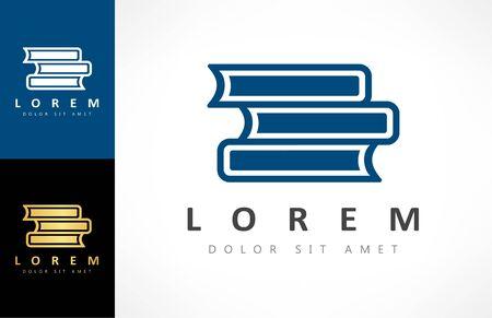 Book logo vector. Education design.
