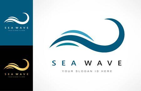 Wave logo vector. Water design.