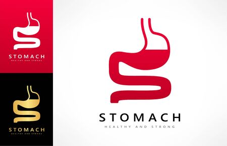 stomach logo vector human organ gastrointestinal tract design