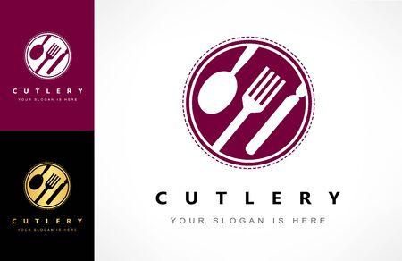 Cutlery logo vector. Cafes and restaurants design. Ilustracja