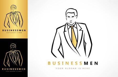 businessman in business suit logo vector Zdjęcie Seryjne - 144790654