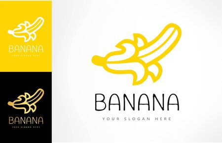 Banana logo vector. Fruit illustration. Ilustracja