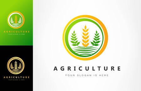 Agriculture Wheat logo vector Ilustracja