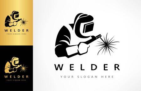 Welder logo vector. Logo design.