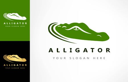 Crocodile logo vector. Alligator design illustration.