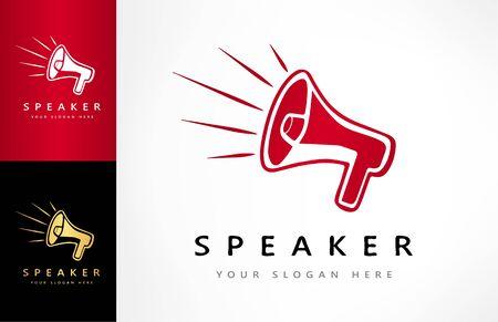 Speaker logo vector. Logo design.