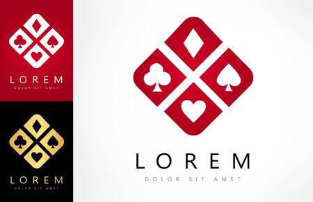 Playing Card Suit vector logo. Logo design vector illustration. Zdjęcie Seryjne - 144790700