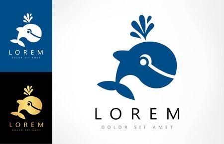 whale logo vector animal design Zdjęcie Seryjne - 144790705