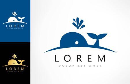 whale logo vector animal design Zdjęcie Seryjne - 144790713