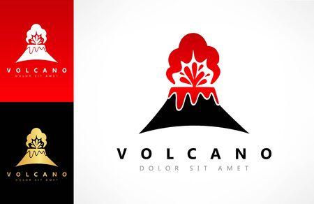 Volcano Eruption vector logo Zdjęcie Seryjne - 144790744