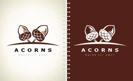 Acorns logo vector. Logo design. Ilustracja