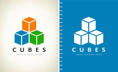 Cubes logo vector design illustration