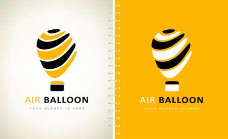 Hot air balloon logo vector design