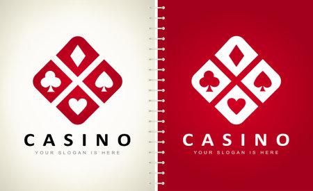 Playing Card Suit vector logo. Logo design vector illustration. Ilustracja