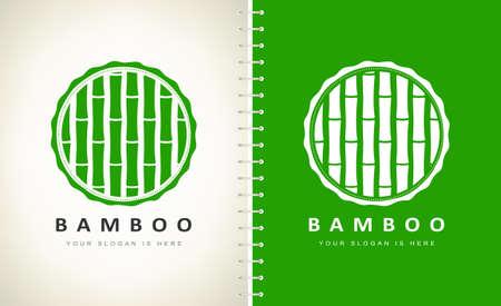 Bamboo vector logo wood design
