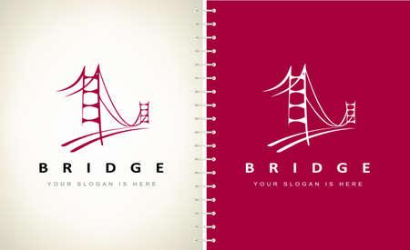 bridge logo vector design. Construction Logo design.