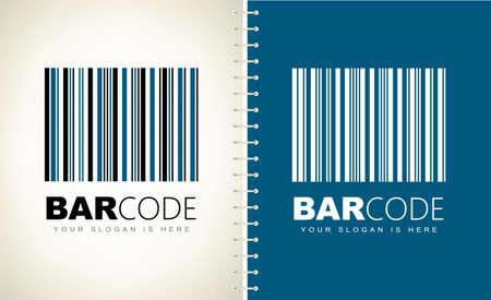 Barcode logo vector design. Logo design.