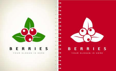 cranberry berries logo vector design